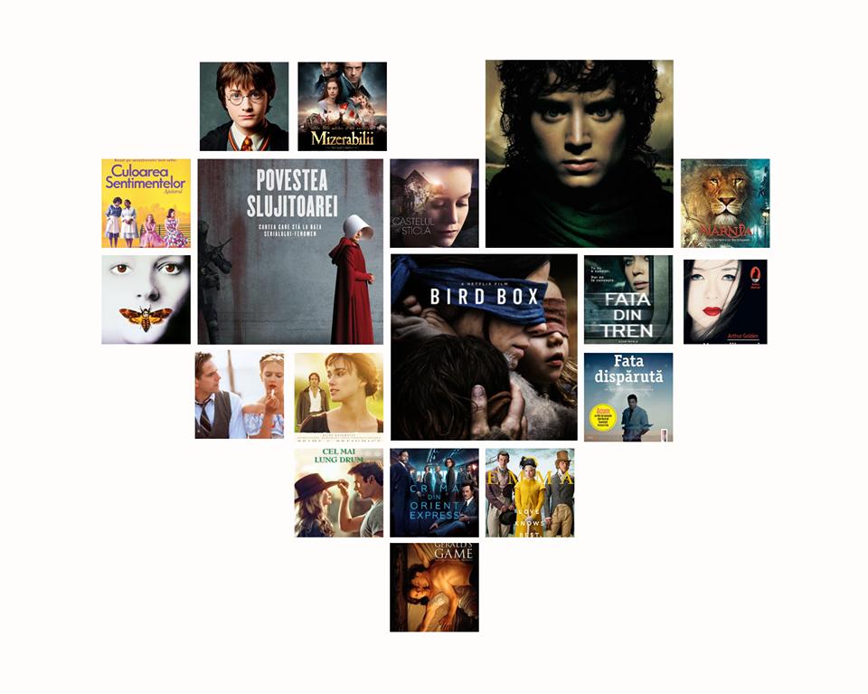 50 de filme ecranizate după cărţi